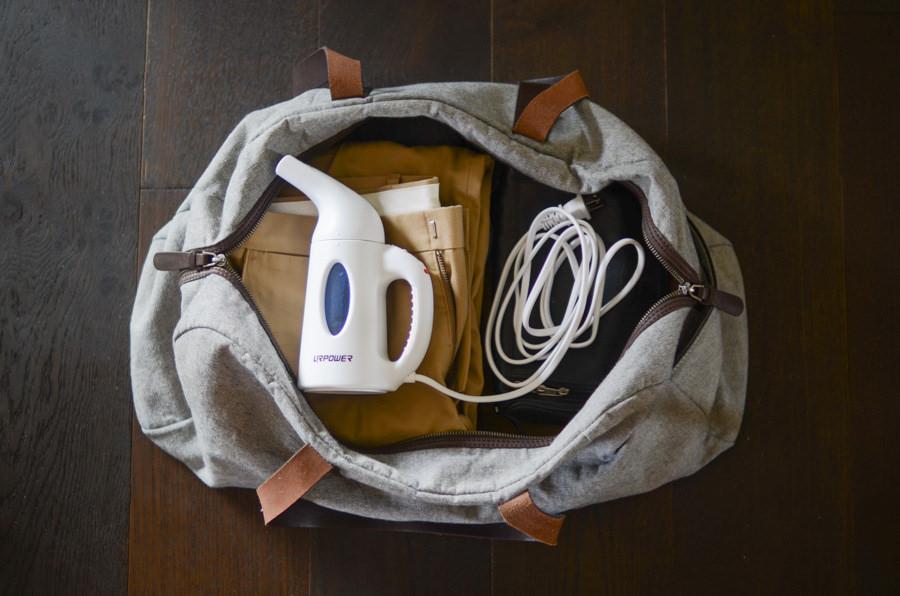 defroisseur vapeur portatif bagage